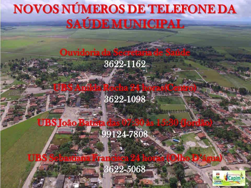 SECRETARIA MUNICIPAL DE SAÚDE DIVULGA NOVOS NÚMEROS TELEFÔNICOS PARA CONTATO COM AS UNIDADES DE SAÚDE E DA OUVIDORIA