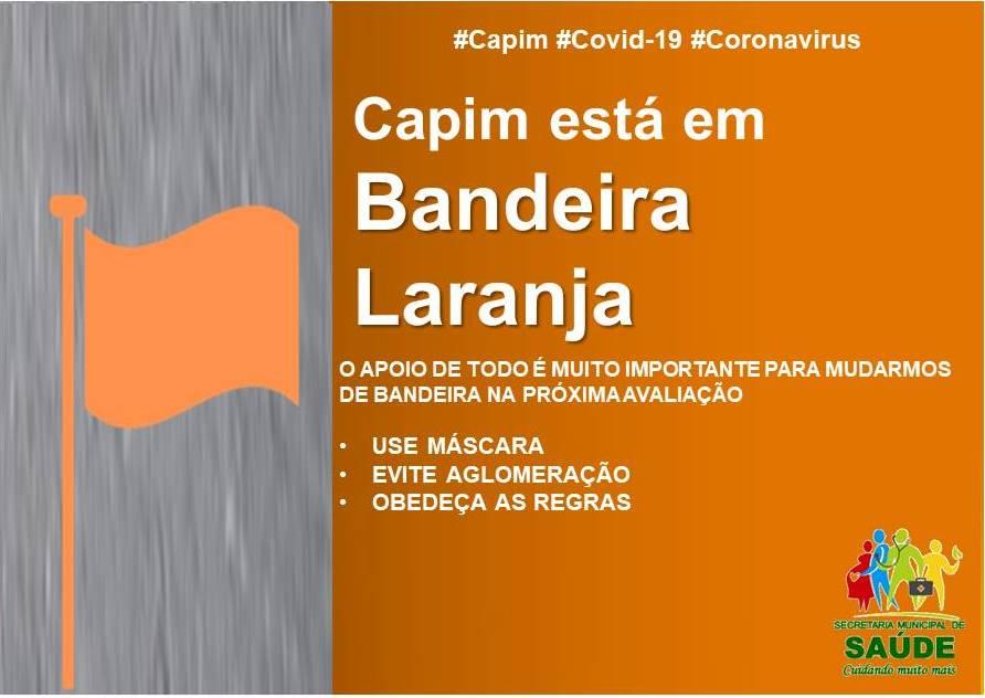 CAPIM RETORNA À BANDEIRA LARANJA