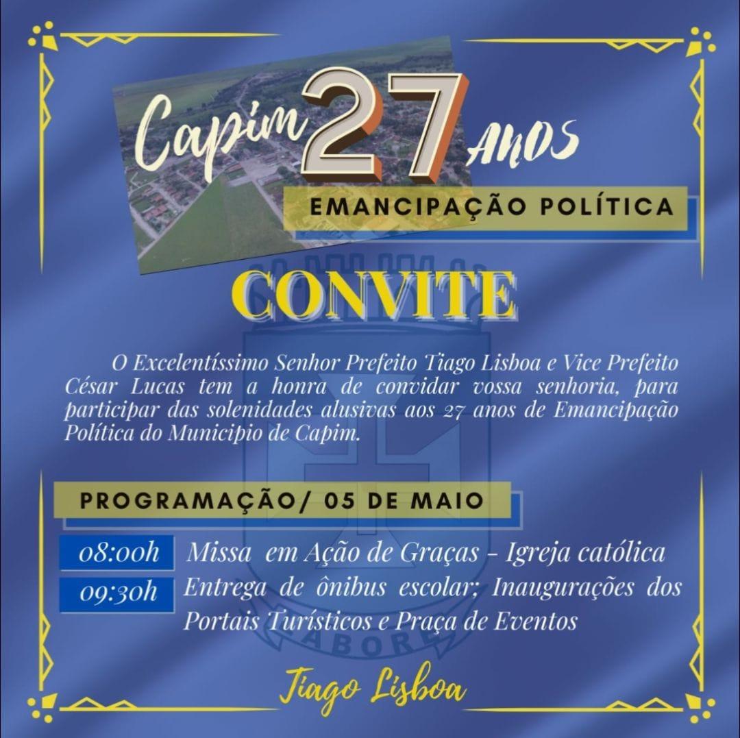 27 ANOS DE EMANCIPAÇÃO POLÍTICA