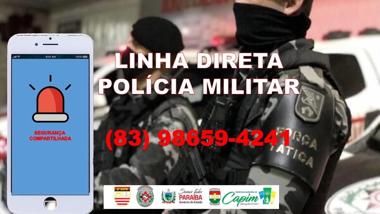 LINHA DIRETA POLÍCIA MILITAR